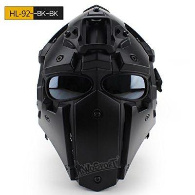 フェイスマスク一体型タイプのヘルメット
